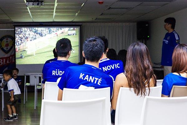 Soccer fan party